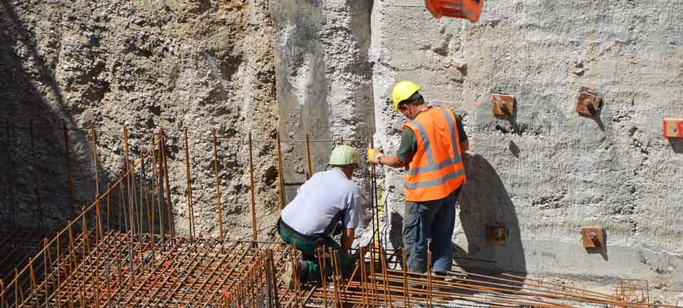 Unterbau-Ausführung, Betonfundament Anden grounting